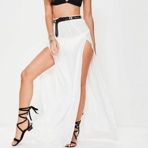 🆕 Missguided side split cover up maxi skirt 4
